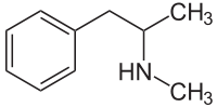 methylamphetamin strukturformel