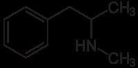 methylamphetamin strukturformel