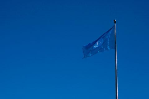 Blaue Fahne © Katrin Thiel